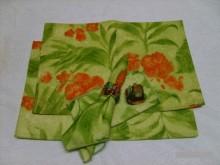 [全新] 彩繪餐墊+餐巾+餐巾環6樣商品S廚房用品全新