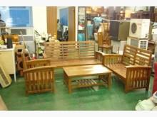 [全新] 原木沙發椅加大茶几 實木板椅木製沙發全新