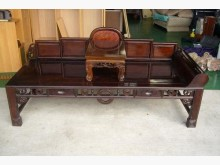 [9成新] 宏品二手~無極雞翅木羅漢椅床木製沙發無破損有使用痕跡