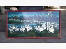 [8成新] 連欣二手傢俱-韓式萬馬奔騰貝殼畫其它有輕微破損