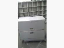 優美2層辦公文件鐵櫃辦公櫥櫃無破損有使用痕跡