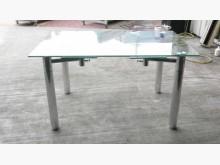 [全新] 宏品二手~全新玻璃伸縮餐桌餐桌全新