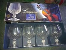 4個法國水晶酒杯其它家庭雜貨全新