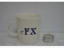eFX 優質純白薄瓷馬克杯杯子全新