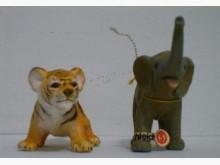 動物模型二隻一起出售@S收藏擺飾全新