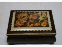 原木手工復古歐風皮繪圖騰珠寶箱收藏擺飾全新