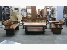 [全新] *LG3055全新雨豆木實木客廳木製沙發全新