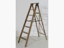 德國 早期 工業 油漆老木梯收藏擺飾近乎全新