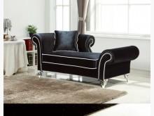 [全新] 威爾黑色絨布貴妃椅 現價9600雙人沙發全新