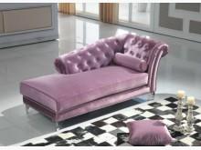 [全新] 奧黛麗紫絨布貴妃椅 現價9900雙人沙發全新
