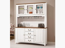 [全新] 柚木白5.3呎餐櫃19800碗盤櫥櫃全新
