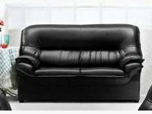 [全新] 011型黑色皮二人沙發 桃園免運雙人沙發全新
