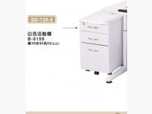 [全新] 728-5  白色活動櫃2500電腦桌/椅全新