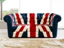 [全新] 傢具小達人~布朗英國旗三人沙發雙人沙發全新