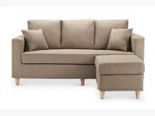 [全新] 日式風格米羅3人座布沙發*淺咖啡多件沙發組全新