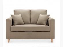 [全新] 日式風格米羅2人座布沙發*淺咖啡雙人沙發全新