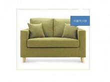 [全新] 日式風格米羅2人座布沙發(綠)雙人沙發全新
