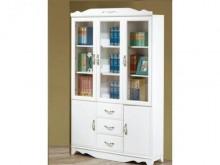 [全新] 維恩白色4尺開門書櫃書櫃/書架全新