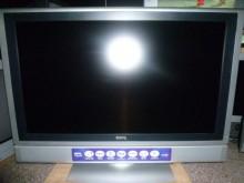 [8成新] ~明碁32吋液晶色彩鮮艷~電視有輕微破損