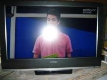 [8成新] 奇美32吋液晶色彩鮮艷畫質佳電視有輕微破損