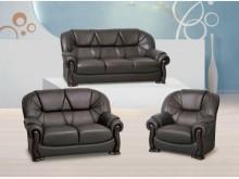 [全新] 深咖啡出木皮沙發全組 26800多件沙發組全新