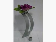 藝術造型金屬彎片玻璃管裝飾花瓶@收藏擺飾全新