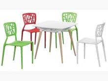 時尚傢俱-B全新坦希蕾造型椅餐桌椅組全新