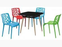 [全新] 時尚傢俱-B全新}米特里餐椅組塑餐椅全新