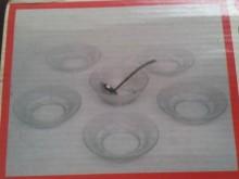 梅花玻璃餐具7件組 S碗/缽/盤/碟全新
