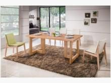 [全新] 科林6尺原木全實木餐桌餐桌全新