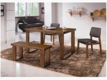 [全新] 羅本北歐4.3尺淺胡桃全實木餐桌餐桌全新