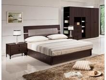 [全新] 艾力克胡桃5尺皮床頭片$4900雙人床架全新