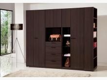 [全新] 艾力克胡桃8尺開門衣櫃31800衣櫃/衣櫥全新