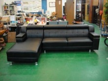 [全新] 宏品BN-601*庫存L型皮沙發L型沙發全新