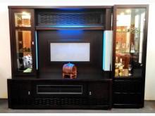 [全新] 藍光8.3尺胡桃酒櫥 桃園區免運高低櫃全新