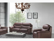 [全新] 詹姆斯型半牛皮三人沙發26800雙人沙發全新
