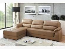 [全新] 布蘭妮卡其色L型皮沙發23800L型沙發全新