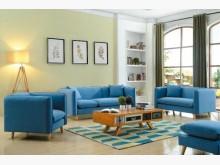 [全新] 莉莉娜藍布沙發全組特價27800多件沙發組全新
