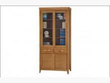 喬森柚木色3尺推門中抽書櫥書櫃/書架全新