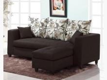 [全新] 紗南L型黑色布沙發L型沙發全新