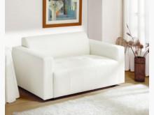 [全新] 柏莎二人座白色皮沙發雙人沙發全新