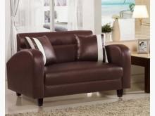 [全新] 劍橋二人座咖啡色皮沙發雙人沙發全新