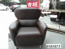[全新] 高透氣皮咖啡色單人皮沙發 沙發組單人沙發全新