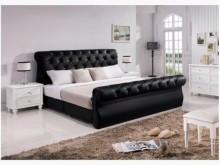 [全新] 艾蜜莉黑色5尺床台雙人床架全新