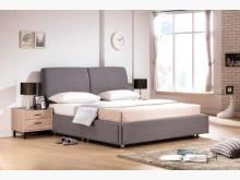 [全新] 韋恩深灰色6尺床頭片+床底雙人床架全新