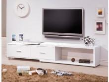 [全新] 肯特白色4尺伸縮長櫃電視櫃全新