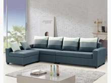 [全新] 南歐L型灰色布沙發L型沙發全新