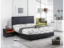 [全新] 莉莎5尺黑皮直條雙人床雙人床架全新