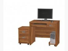 [全新] 肯傑柚木色3尺電腦桌三件6400電腦桌/椅全新