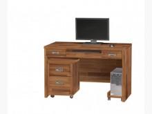 [全新] 肯傑柚木色4尺電腦桌三件7400電腦桌/椅全新